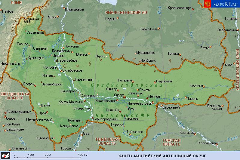 пунктов Ханты-Мансийского