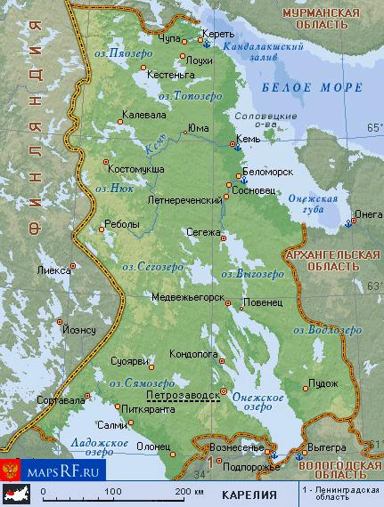 Карта карелии скачать бесплатно