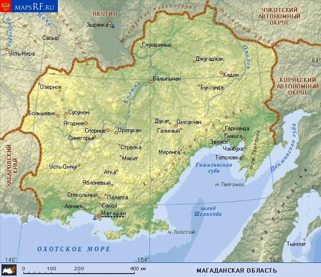 Геологическая карта сусуманского района