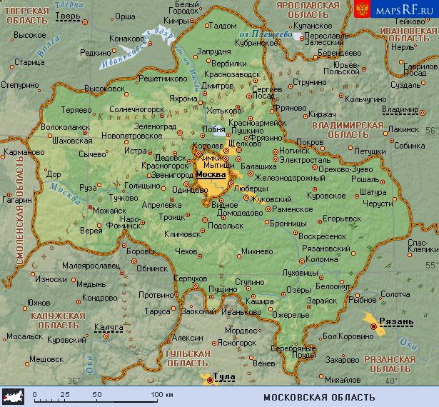 спутниковая карта московской области скачать