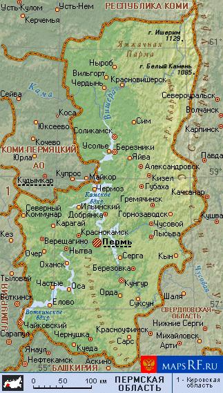 Карта Пермского Края С Населенными Пунктами Скачать - фото 2