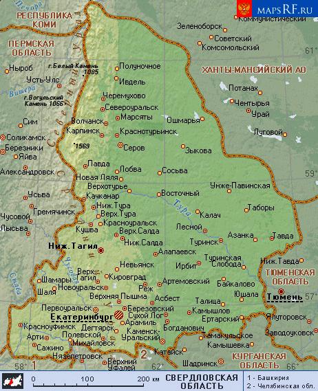 Тугулыма - MapRossiya ru