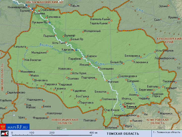 спутниковая карта томской в реальном времени
